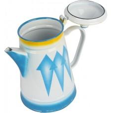 دلة القهوة من خليط معدني ، ازرق - 15سم